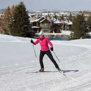 Andrea Putt Cross Country Skate Skiing in Park City, UT