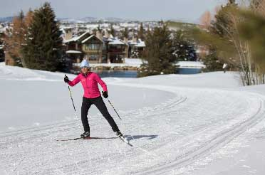 Andrea Putt at the white pine nordic center in park city utah