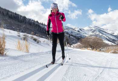 Betsy Bothe Cross Country Skiing in Park City, Utah