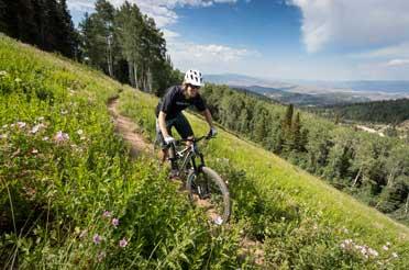 Ian Hartley Mountain Biking in Park City, UT