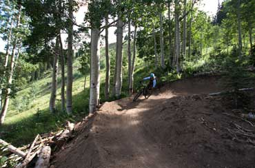 Jon Beebe Mountain Biking in Park City, Utah