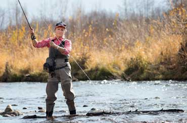 Gayle Sherry Fly Fishing on the Provo River, Utah