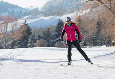 Betsy Bothe cross-country skiing