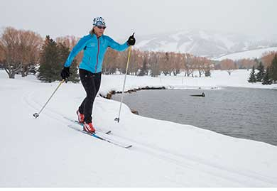 Andrea Putt cross-country skiing