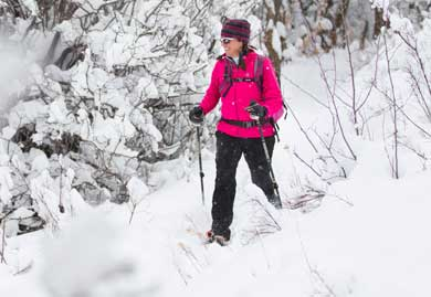 Betsy Bothe snowshoeing