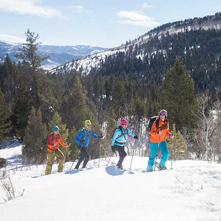 Snowshoeing in the Uinta Mountains