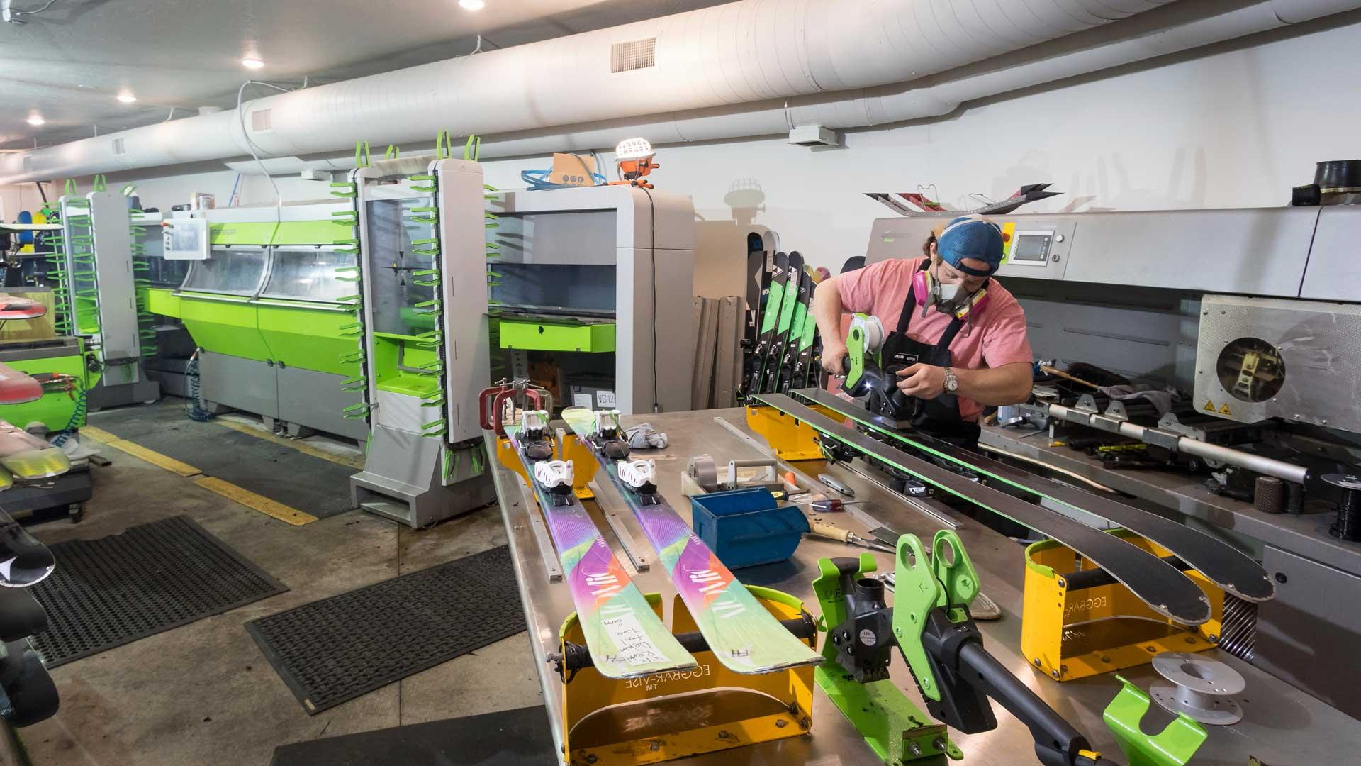 Tuning skis at Rennstall in Park City, Utah