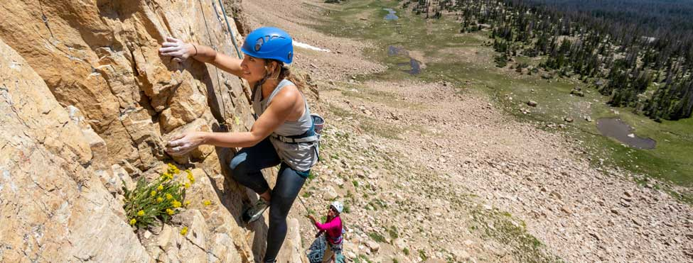 A guided rock climbing tour in the Uinta Mountain Range in Utah