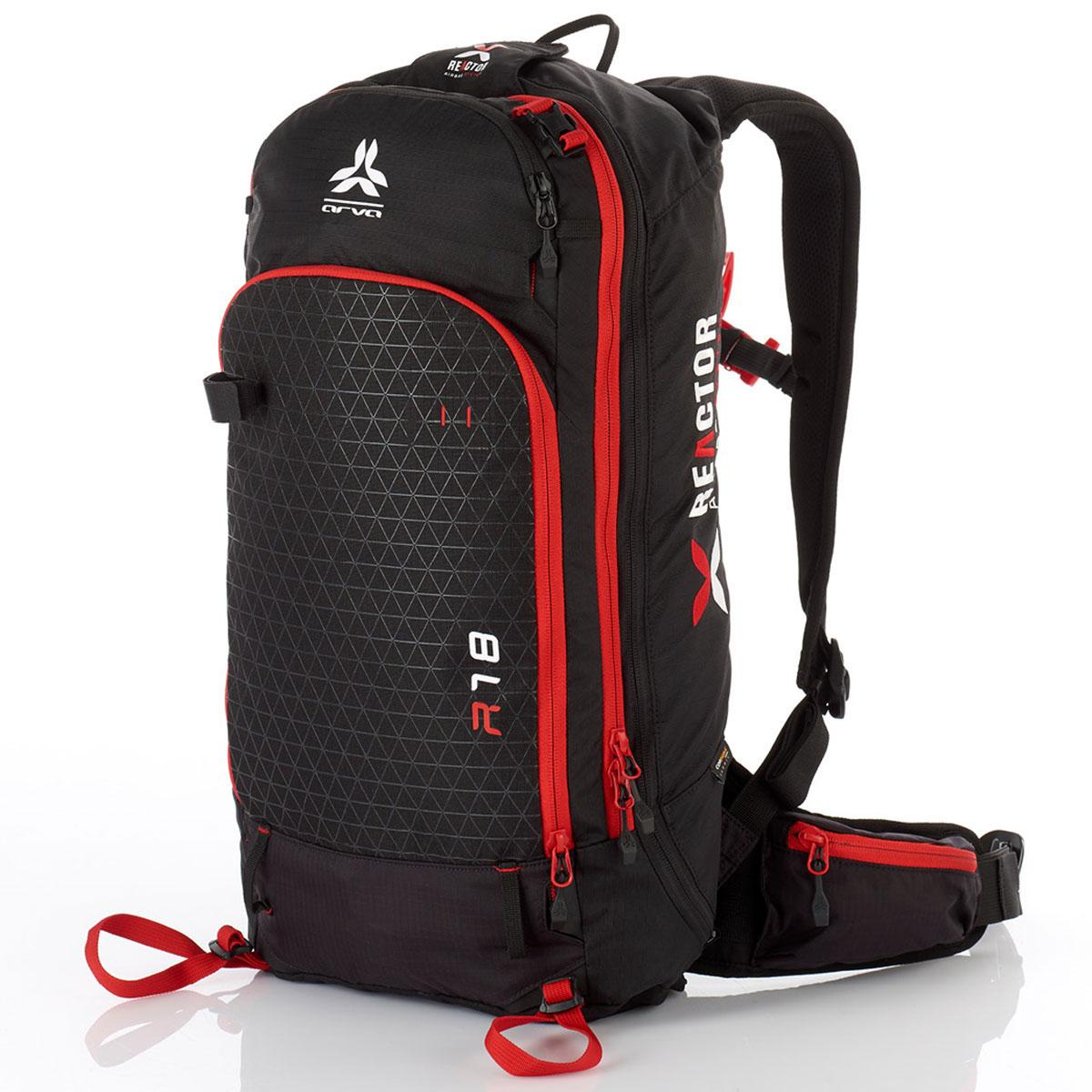 Arva Reactor 18 Airbag Backpack in Black and Red