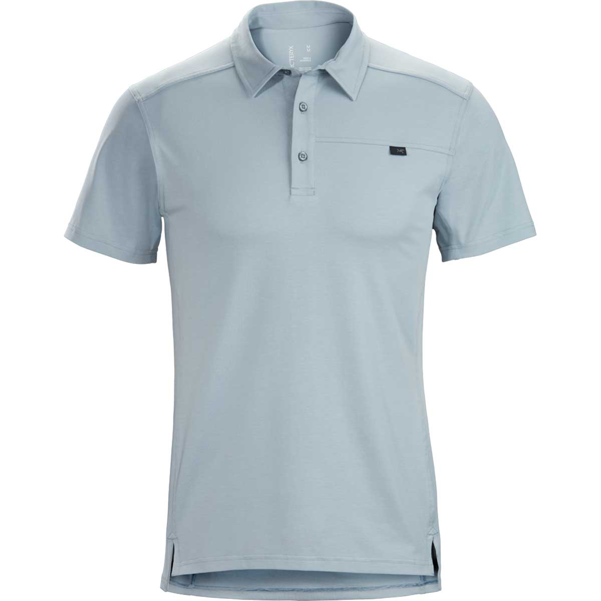 Arcteryx men's Captive Polo Shirt in Aeroscene front view