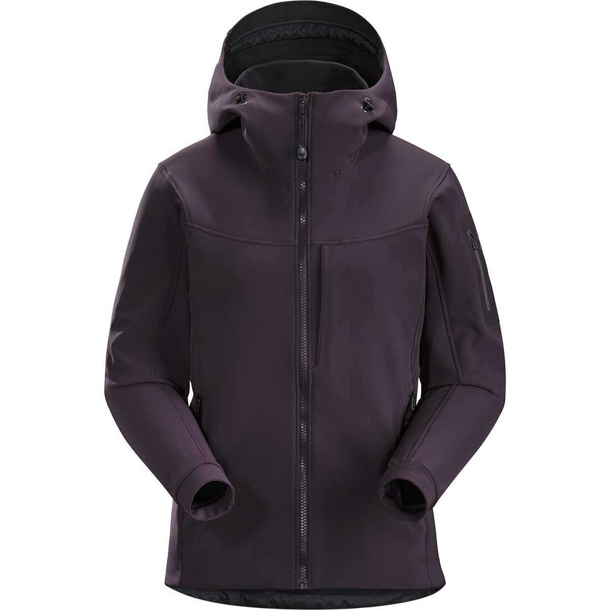 Arcteryx women's Gamma MX Hoody in Dimma front view