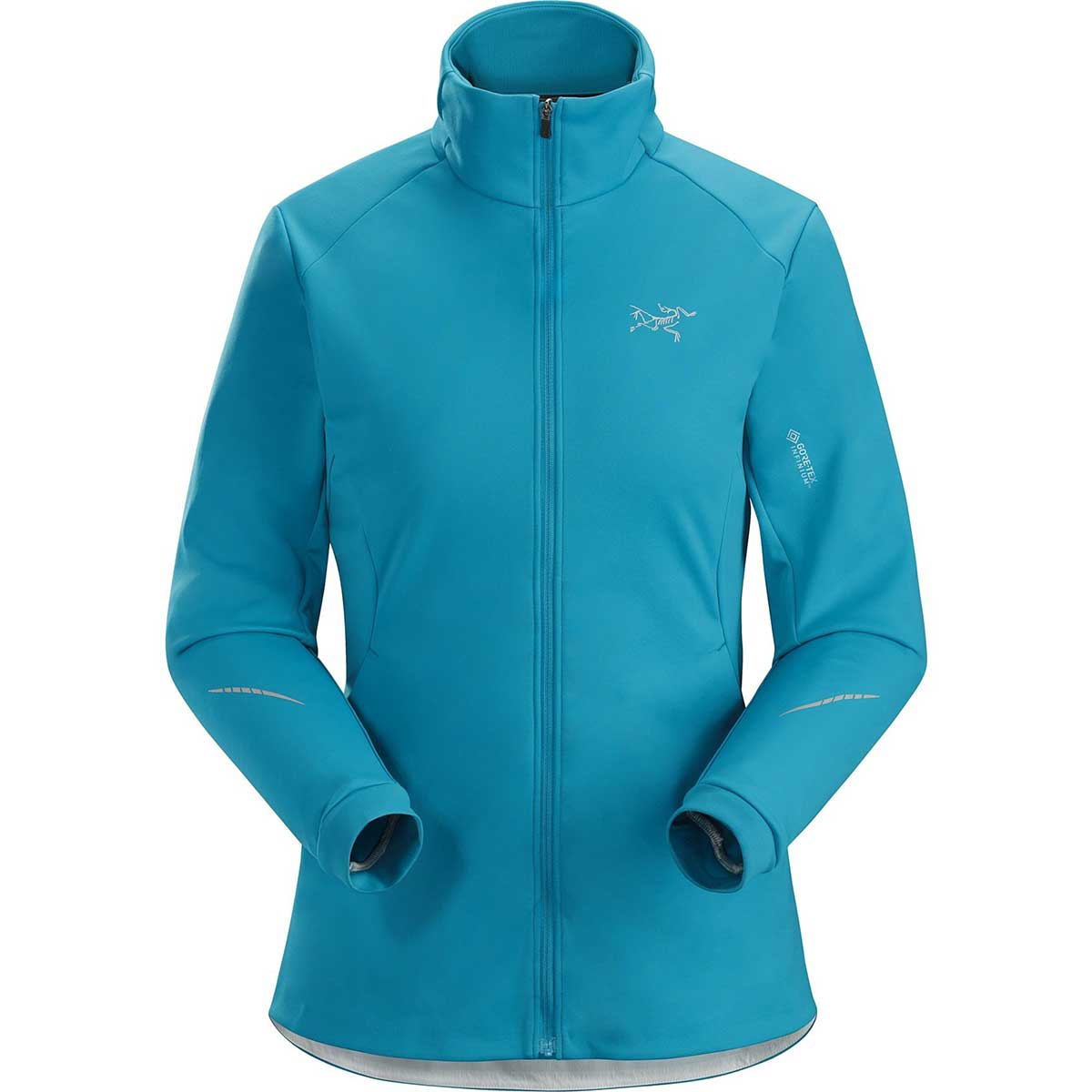 Arcteryx women's Trino Jacket in Dark Firoza front view
