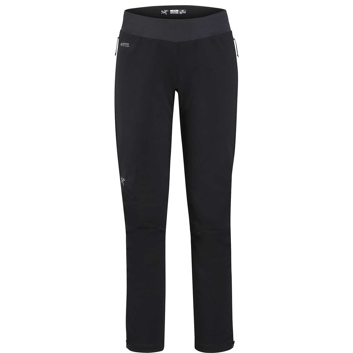 Arcteryx women's Trino Tight in Black and Black front view