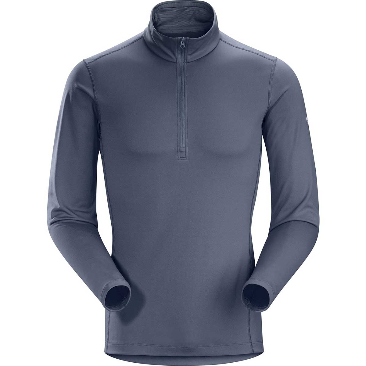 Arcteryx men's Phase AR Zip Neck Top in Proteus front view