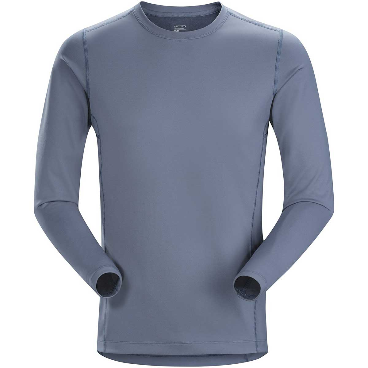Arcteryx men's Phase AR Crew Top in Proteus front view