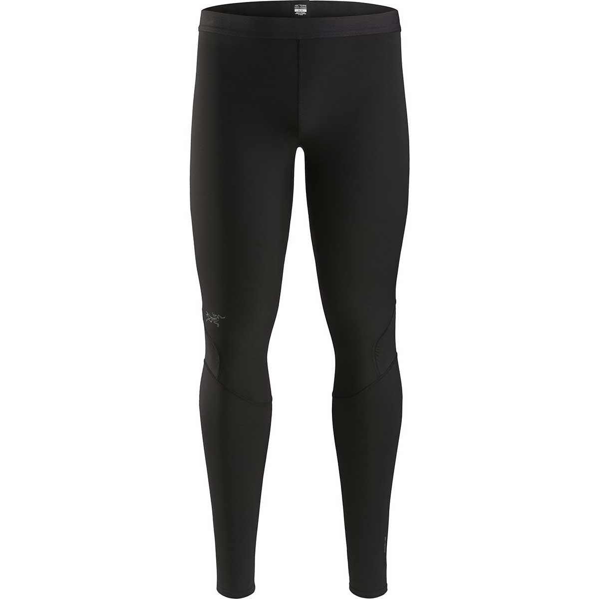 Arcteryx men's Phase AR Bottom in Black front view
