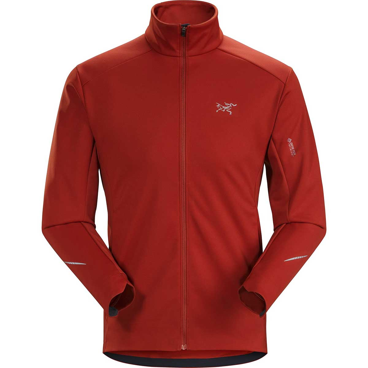 Arcteryx men's Trino Jacket in Infrared front view