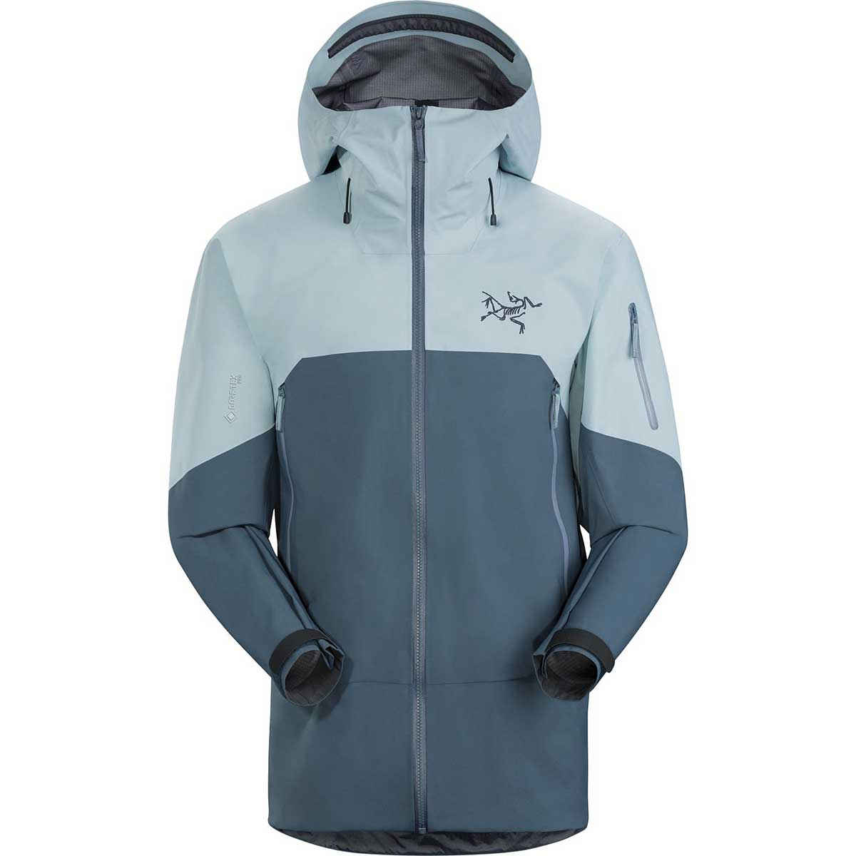 Arcteryx men's Rush Jacket in Cyborg front view