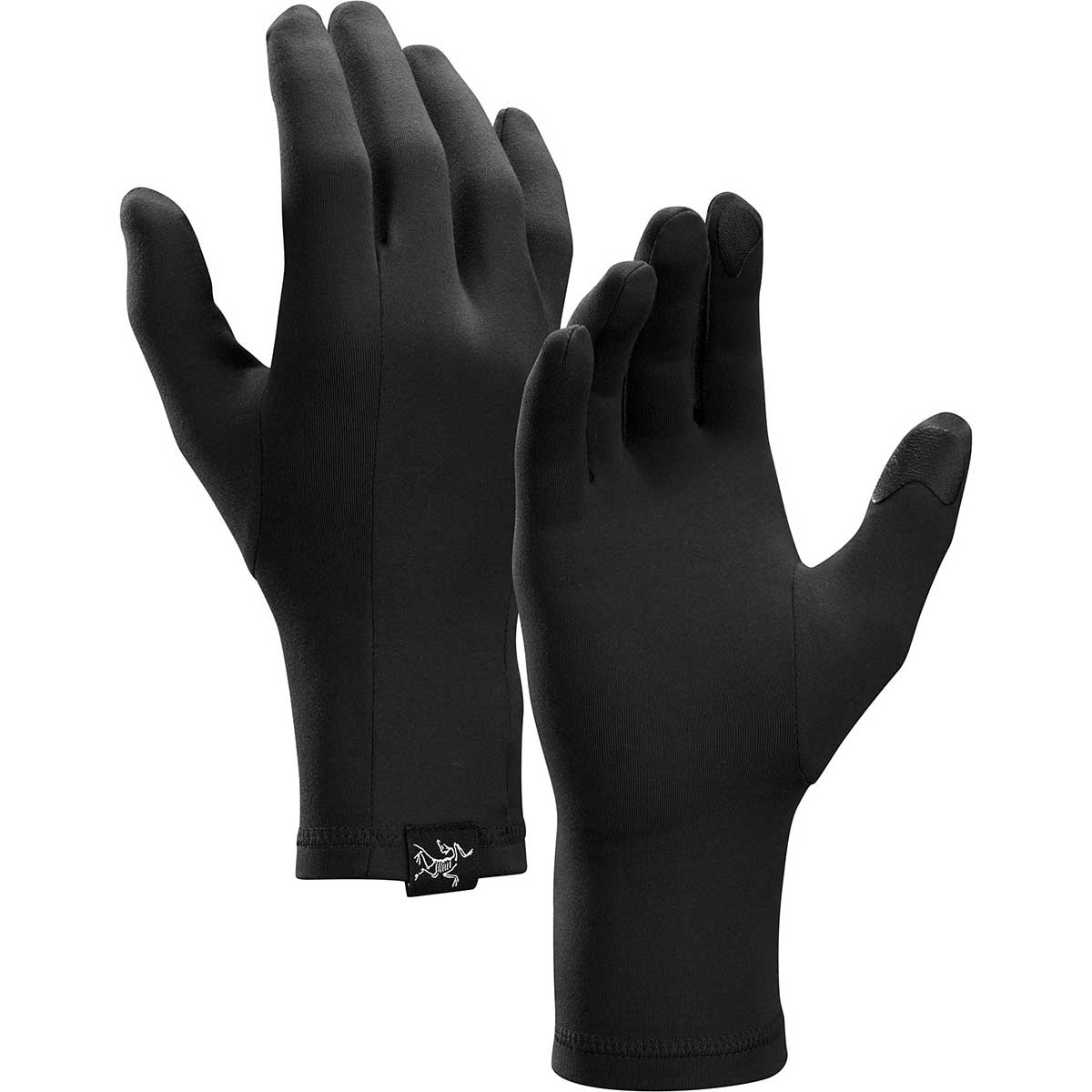 Arcteryx RHO Glove in Black front view
