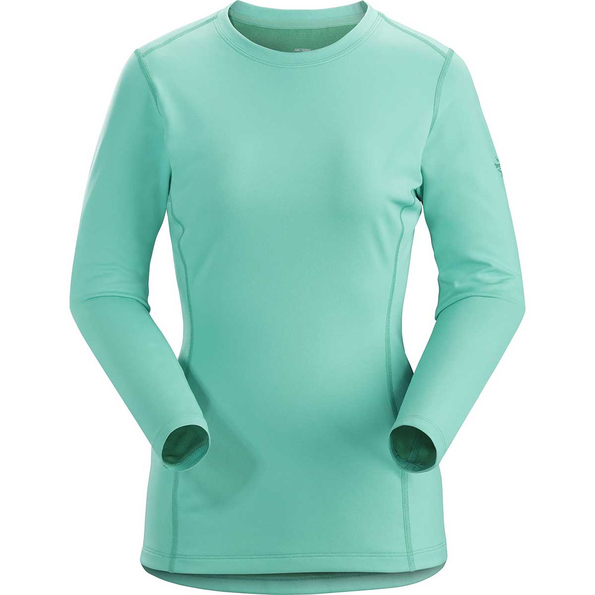 Arcteryx women's Phase AR Long Sleeve Crew in Dark Illucinate front view
