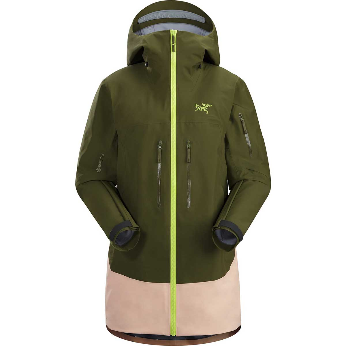Arcteryx women's Sentinel LT Jacket in Treeline Tonic front view