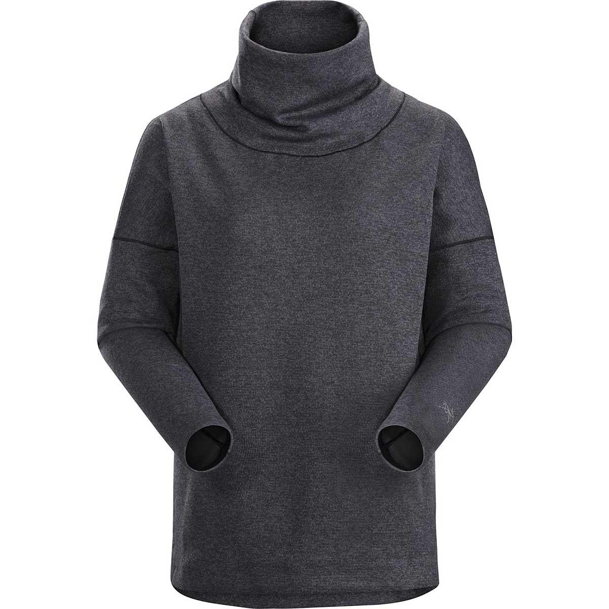 Arcteryx women's Laina Sweater in Carbon Copy Heather front view