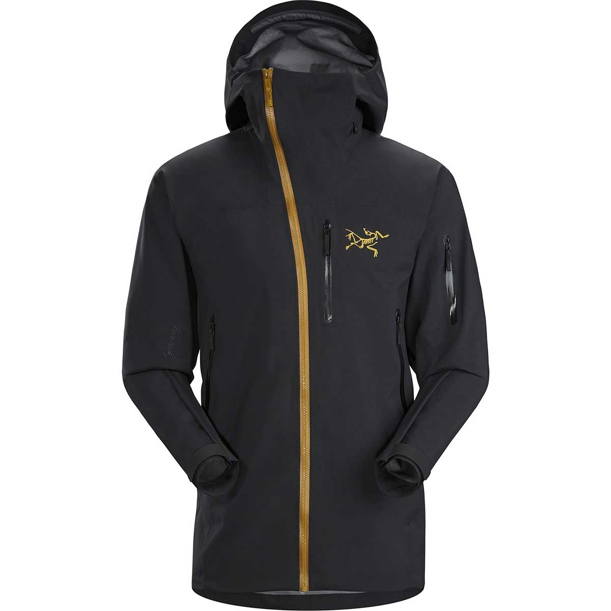 Arcteryx men's Sidewinder Jacket in 24K Black front view