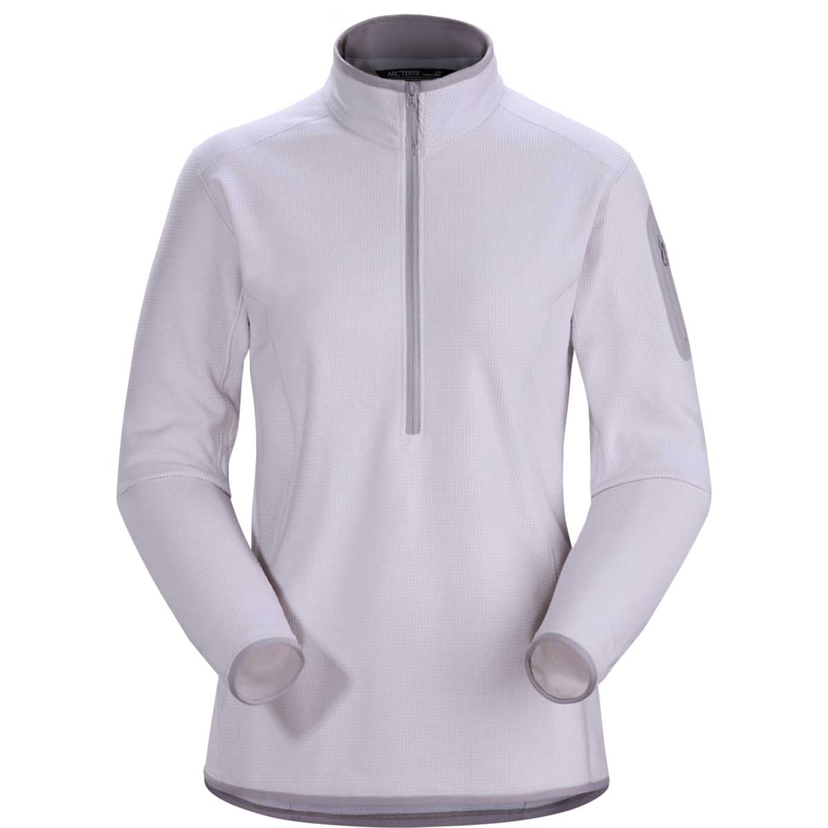 Arcteryx women's Delta LT Zip Neck Pullover in Synapse front view