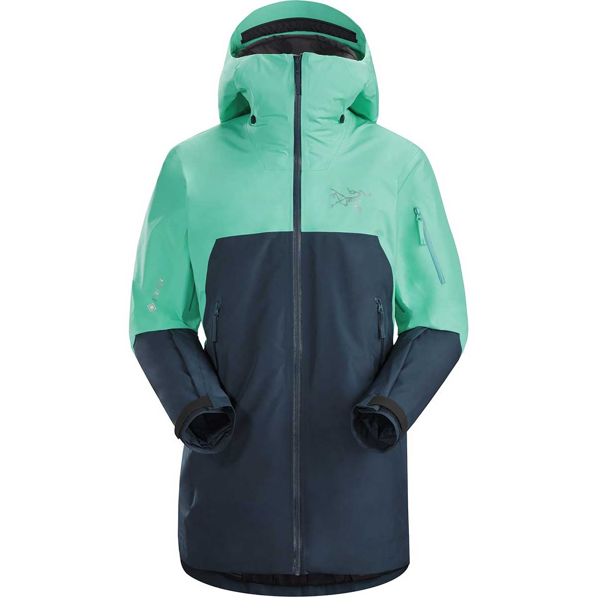 Arcteryx women's Shashka IS Jacket in Illucination front view