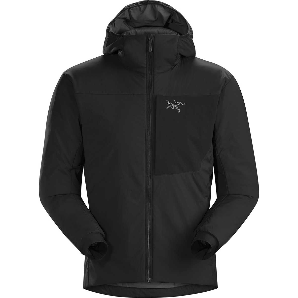 Arcteryx men's Proton LT Hoody in Black front view
