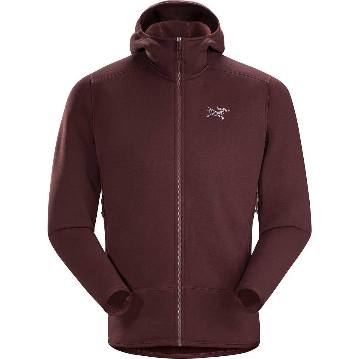 Arcteryx men's Kyanite Hoody in Flux front view