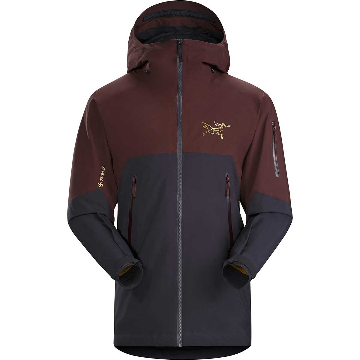 Arcteryx men's Rush IS Jacket in Black Baccara front view