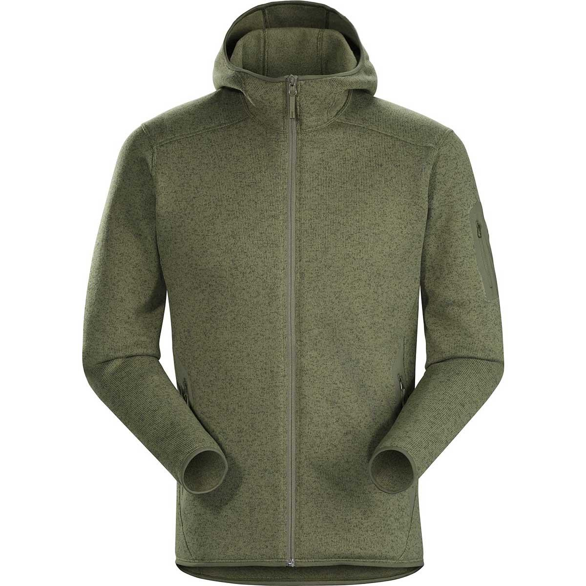 Arcteryx men's Covert Hoody in Arbour Heather front view