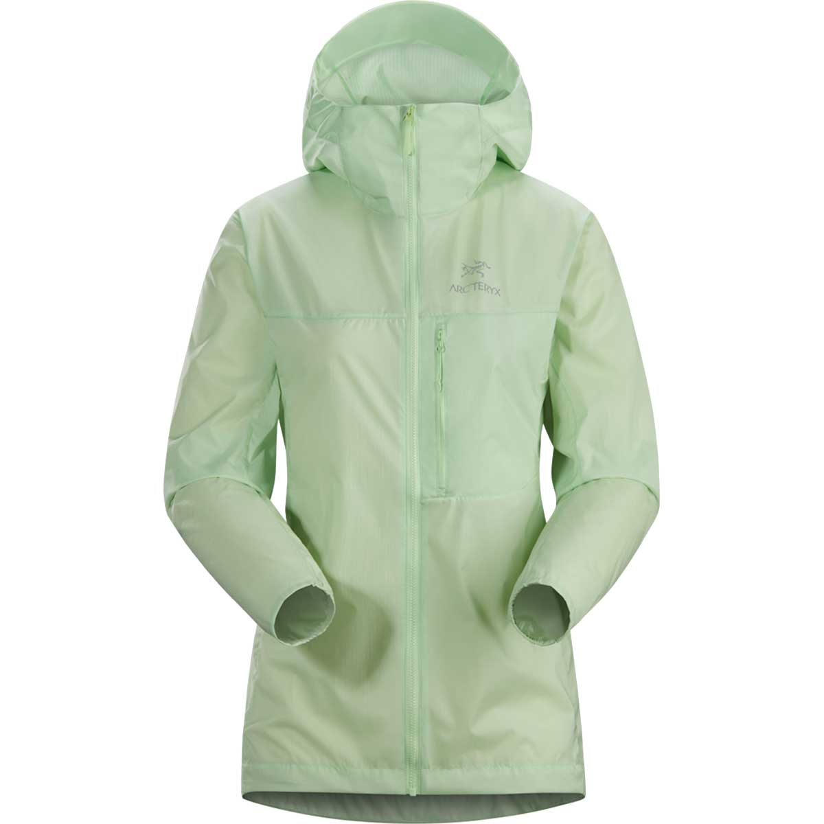Arcteryx women's Squamish Hoody in Bioprism front view