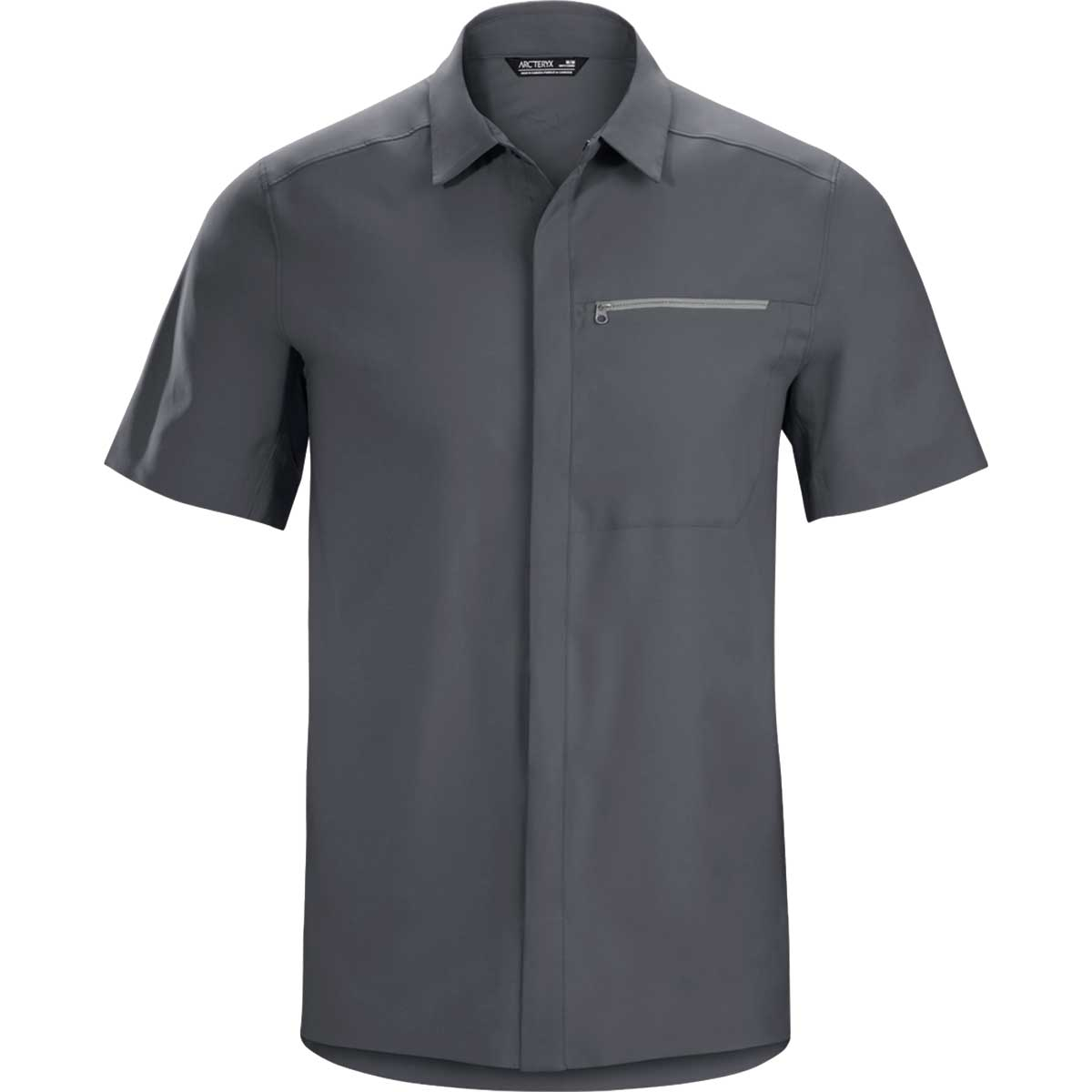 Arcteryx men's Skyline Short Sleeve Shirt in Cinder front view