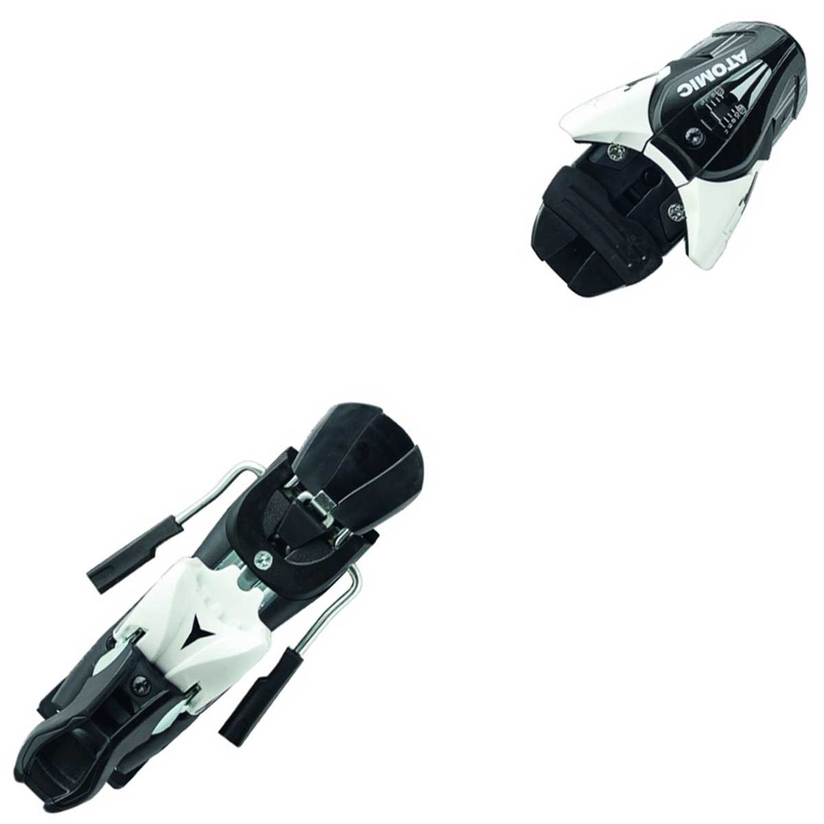 Atomic Z 12 ski binding in black and white