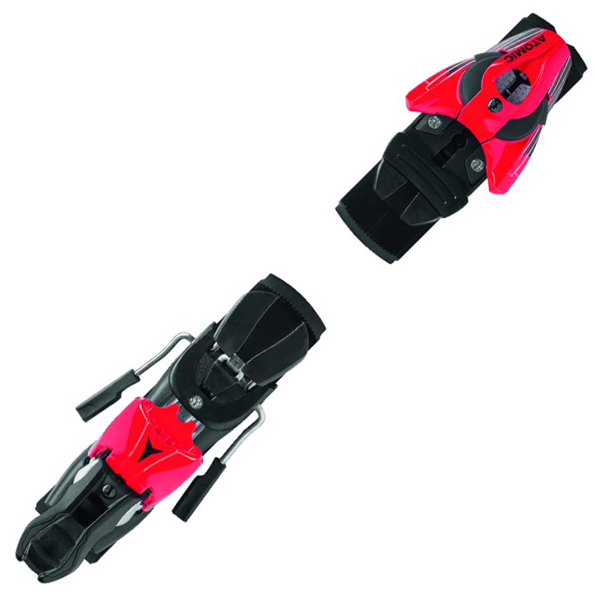 Atomic Z 10 ski binding in red black