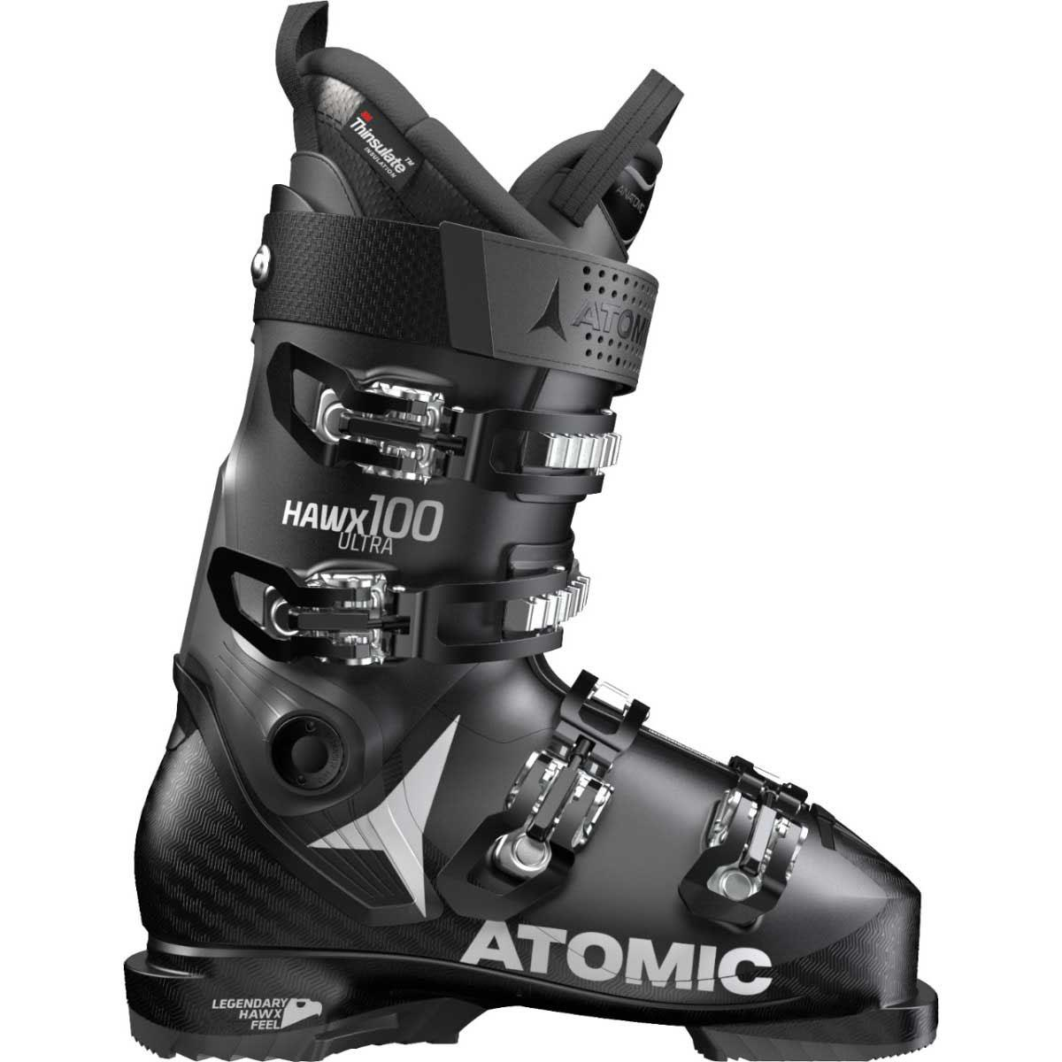 Atomic men's HAWX Ultra 100 Ski boot in black anthracite