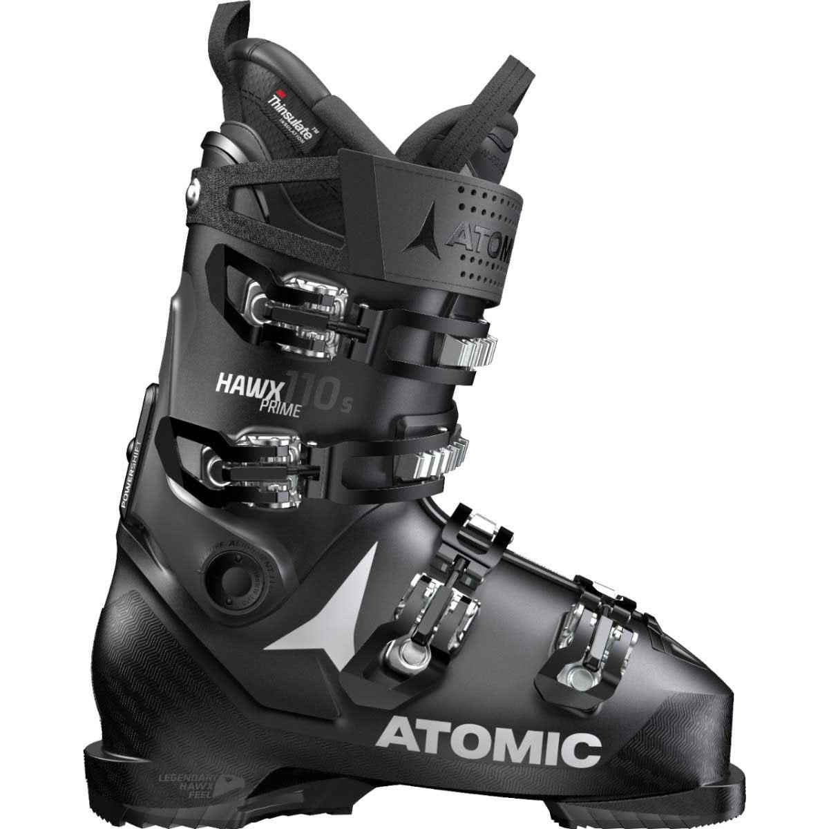 Atomic men's HAWX Prime 110 S ski boot in black anthracite