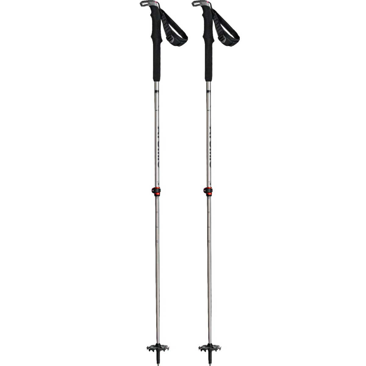 Atomic BCT Touring SQS telescoping ski poles in Silver Grey