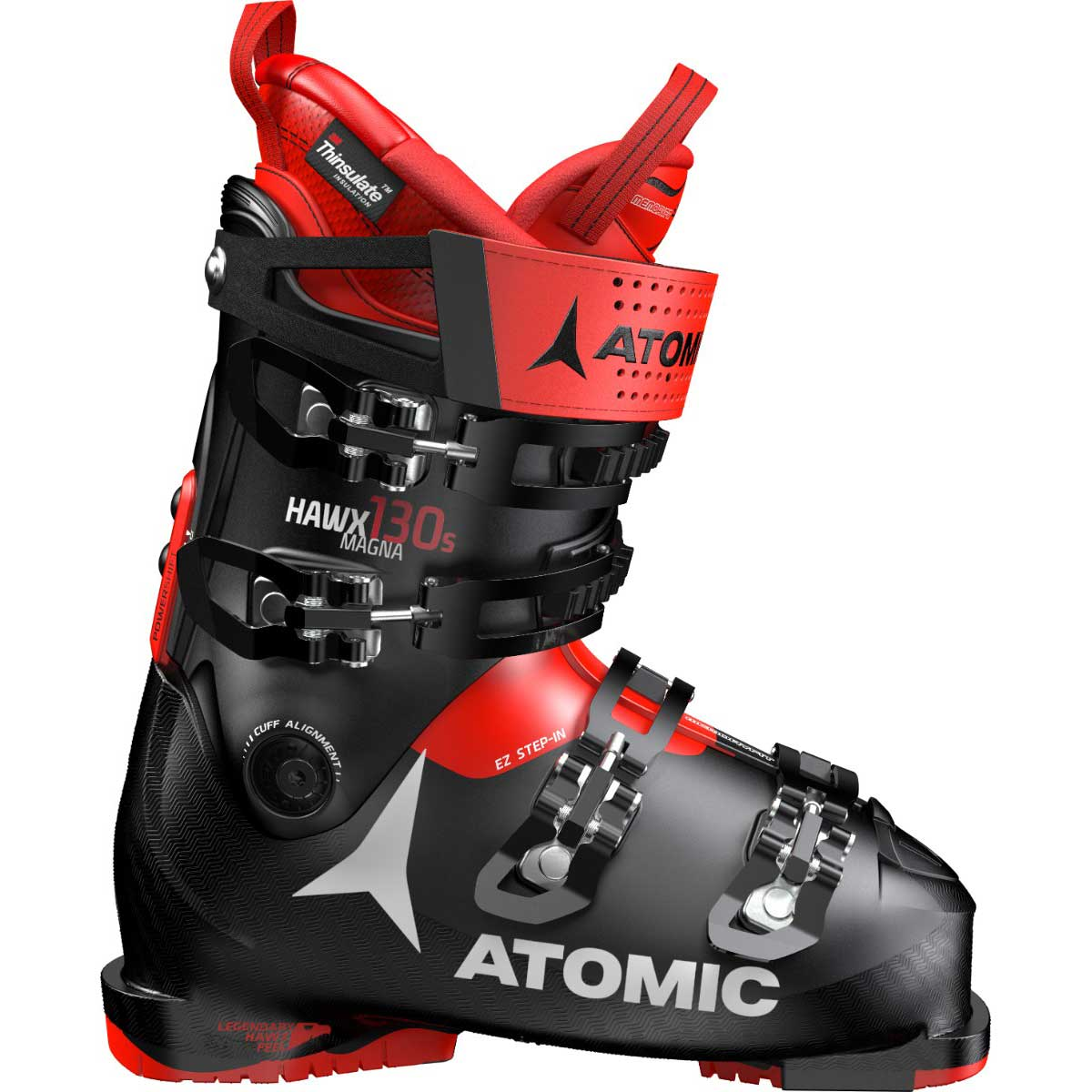 Atomic HAWX Magna 130 S ski boot in black and red
