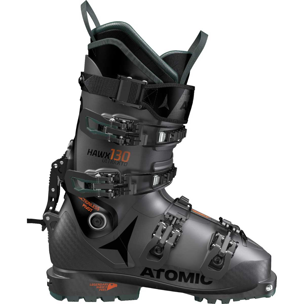Atomic Hawx Ultra XTD 130 ski boots in Anthracite and Green