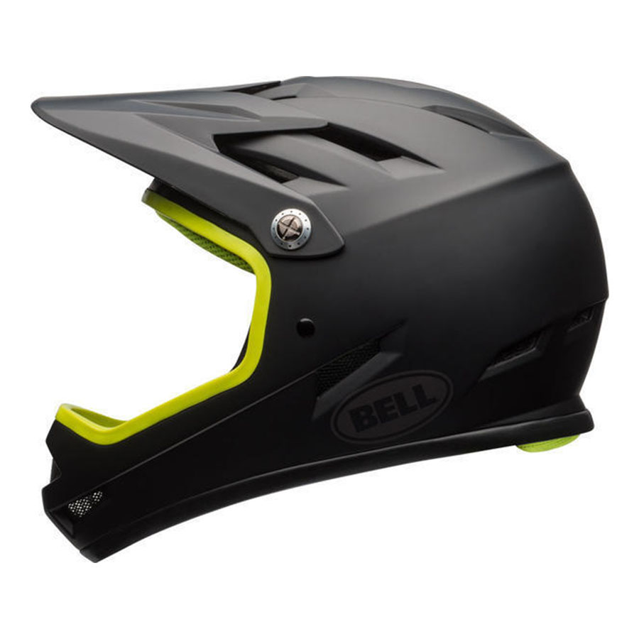 Bell Sanction full-face bike helmet in Black and Ret Sear