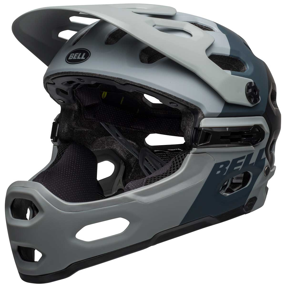 Bell Super 3R MIPS bike helmet in Downdraft Matte Grey and Gunmetal