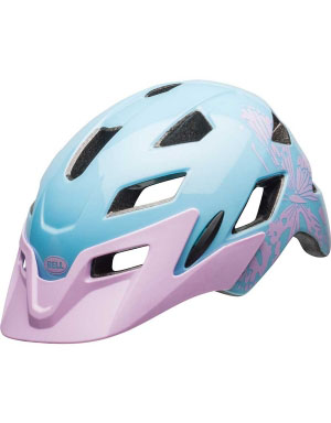 Bell Sidetrack - Youth bike helmet in Lilac