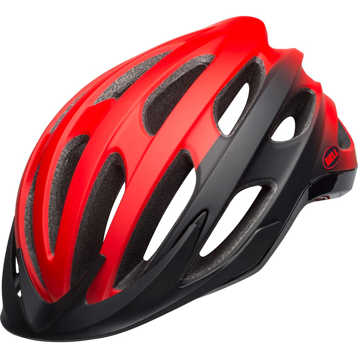 Bell Drifter MIPS bike helmet in Thunder Matte and Gloss Crimson and Black