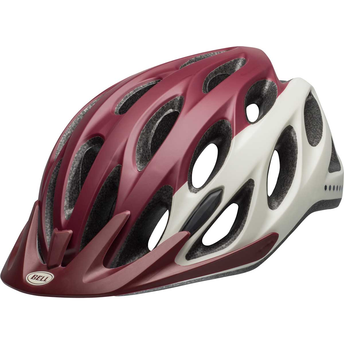 Bell women's Coast W bike helmet in Virago Maroon and Slate and Sand