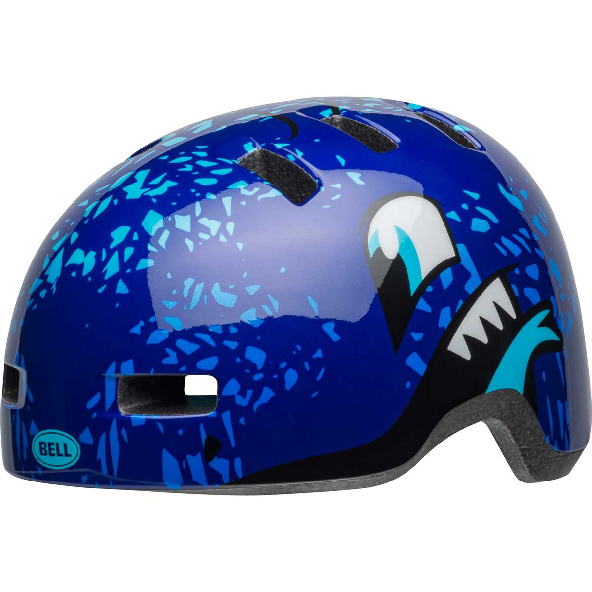 Bell kids' Lil Ripper bike helmet in Blue Eyes
