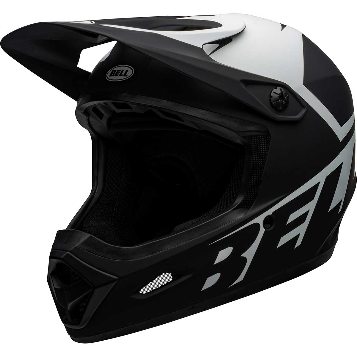 Bell Transfer Full-Face Helmet in Matte Black and White