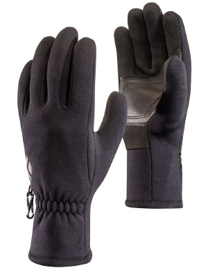 Black Diamond Men's Heavyweight Screentap Glove Liner in Black